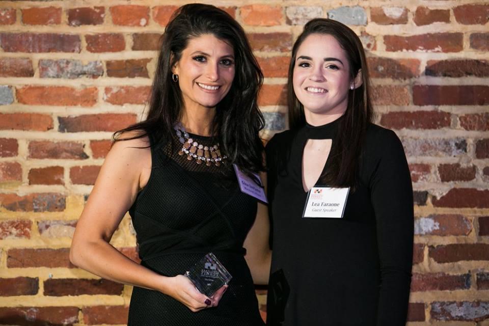 Left: Gina DePinto; Right: Lea Faraone (guest speaker)